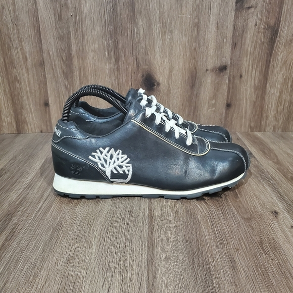 Timberland Other - Timberland Black Leather Tennis Shoes